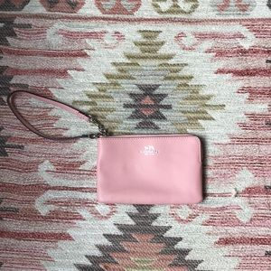NEVER USED pink coach wristlet!